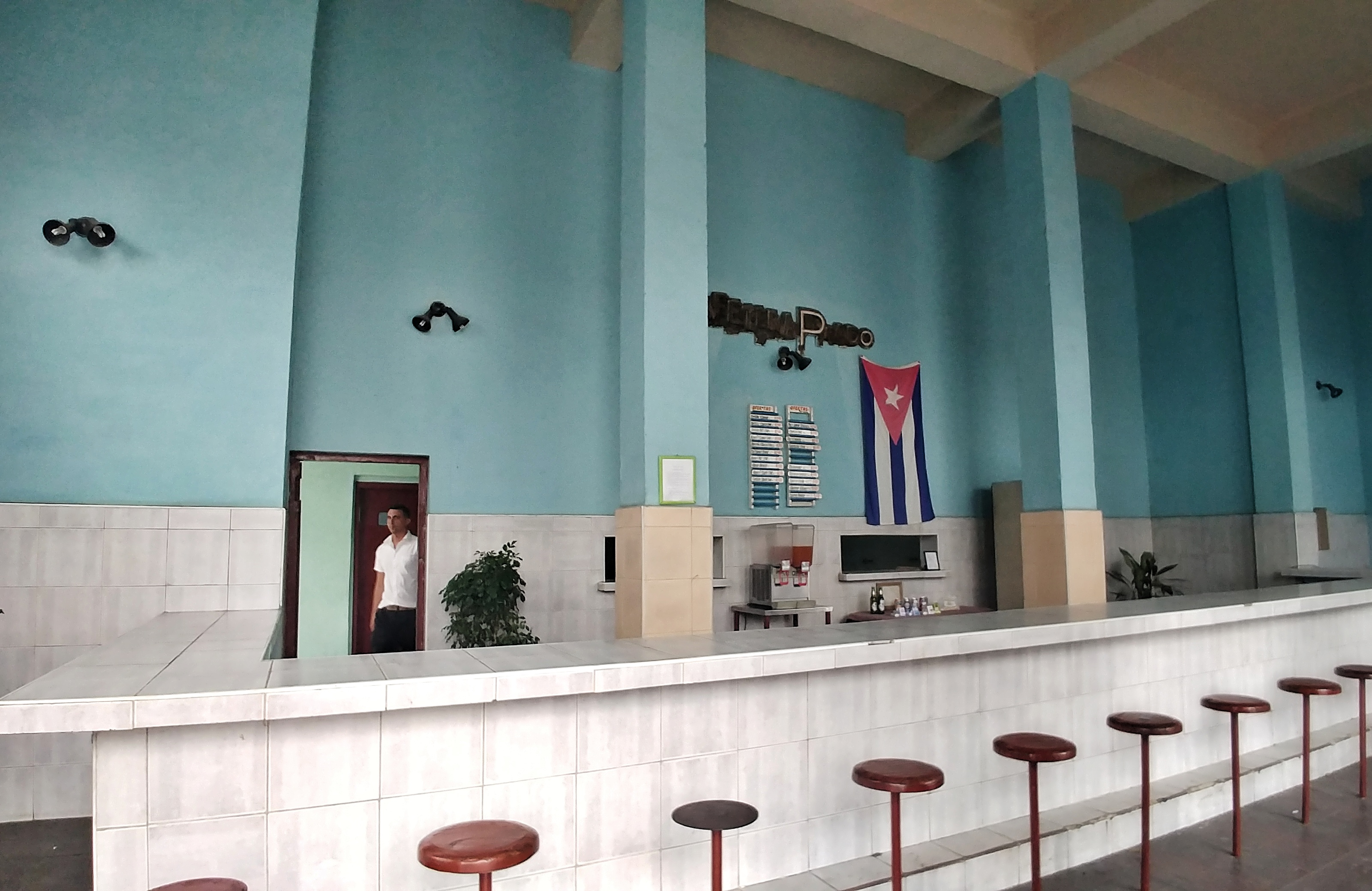 Communist bar in Cienfuegos in Cuba