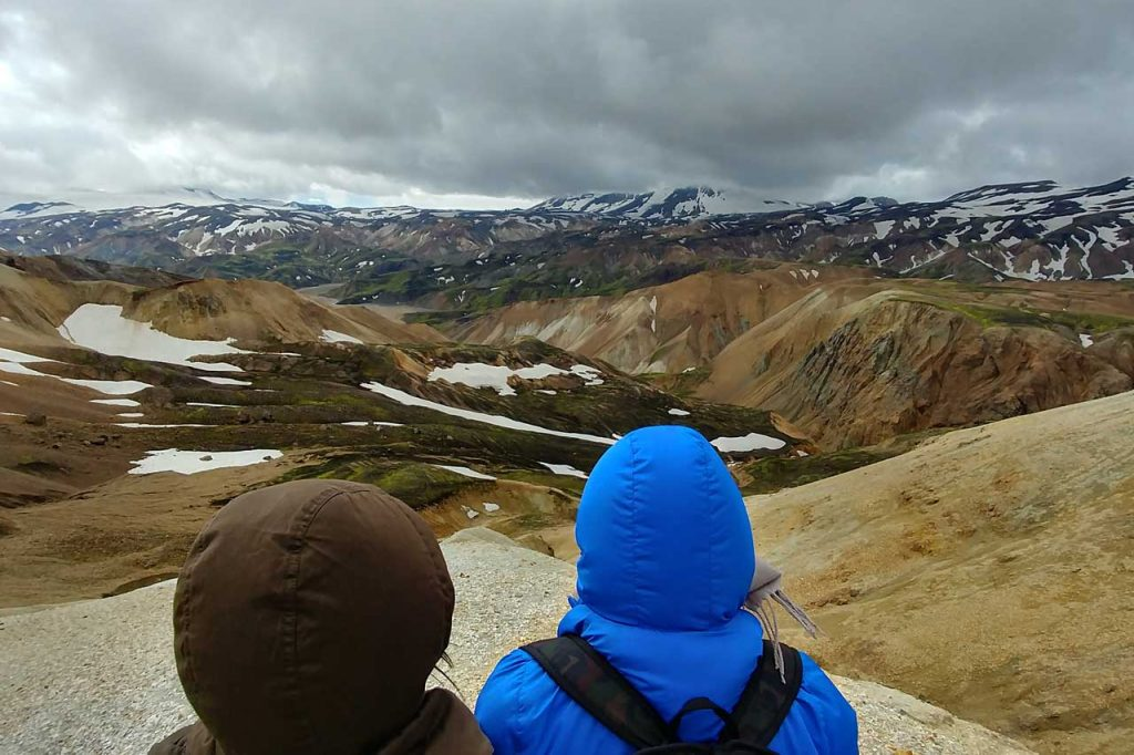 Overlooking the mountains in Iceland