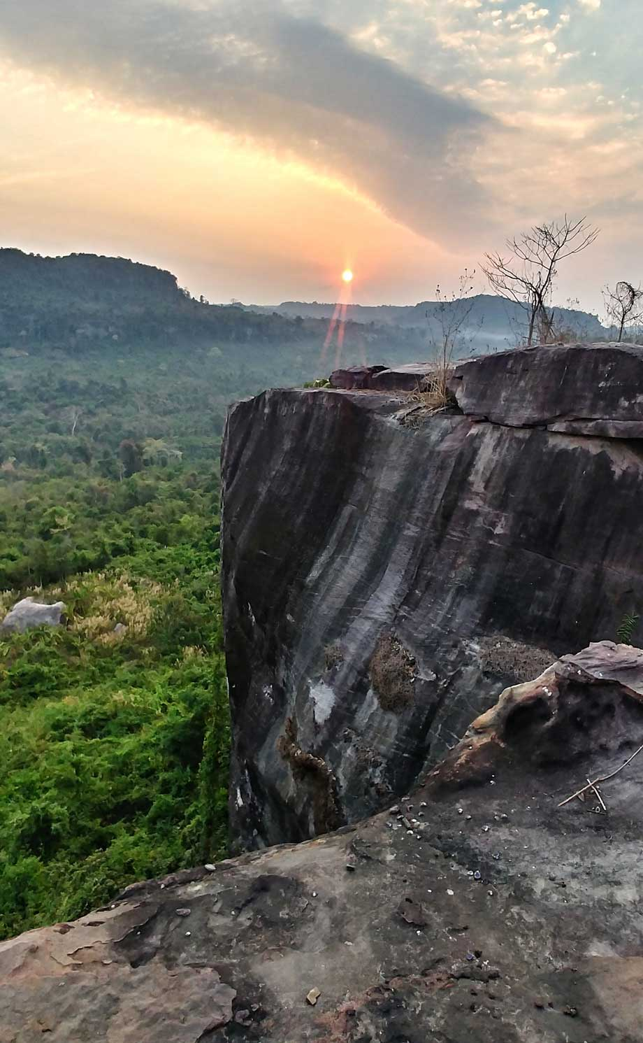 View from the Kulen mountain on rising sun