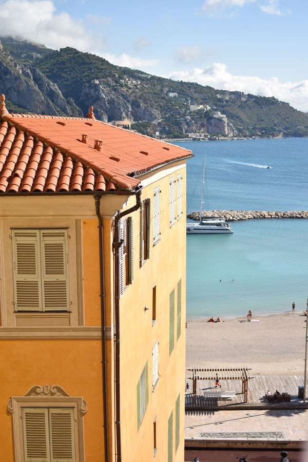 View on the sea from Menton cute town