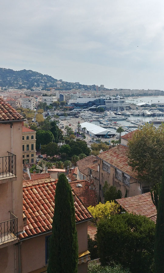 View on Cannes from the old quarter