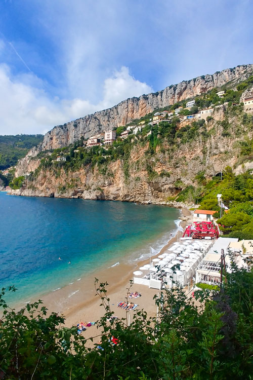 Mala Beach surrounded by a cliff