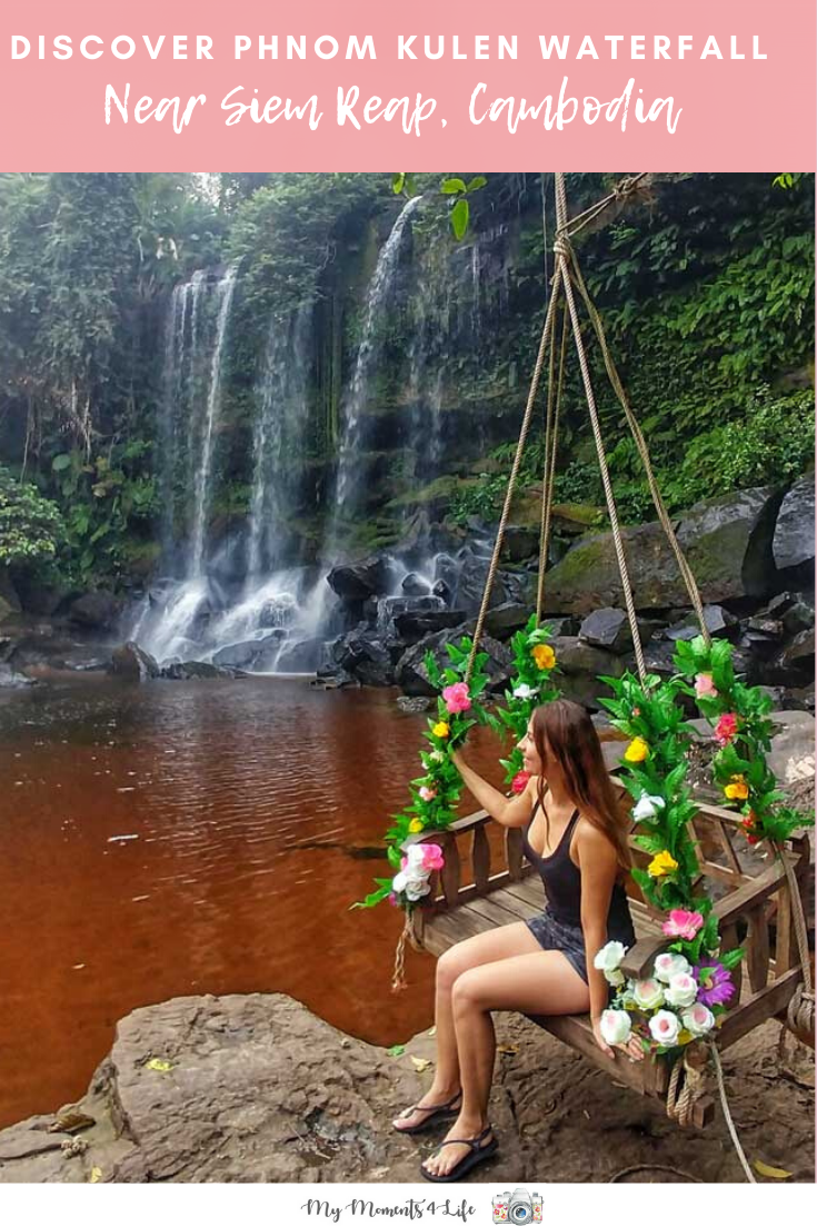 Swing by the Phnom Kulen waterfall near Siem Reap in Cambodia