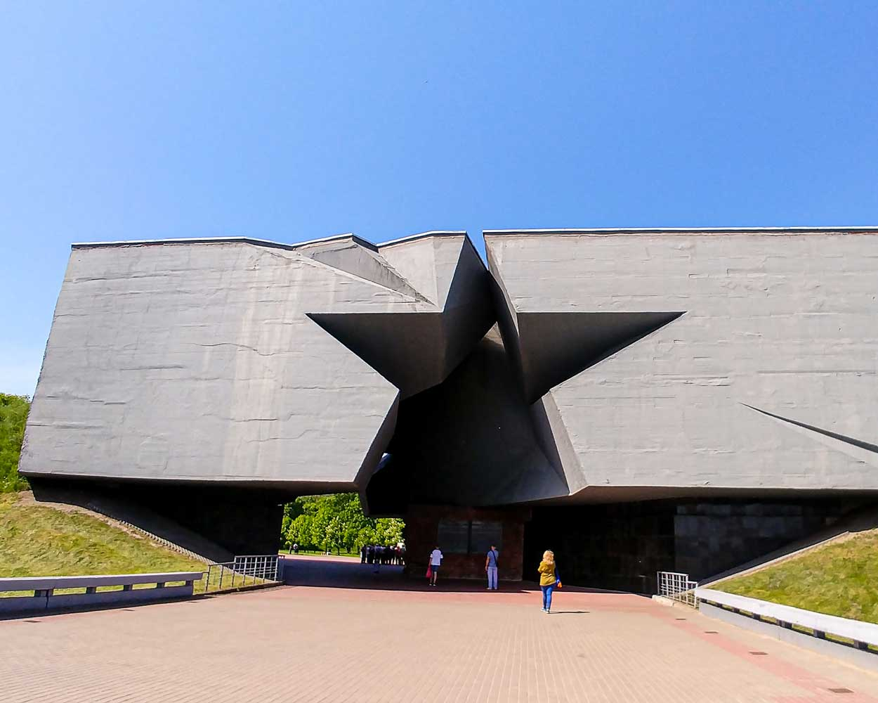 Star-shaped gate to enter the Brest Fortress in Belarus