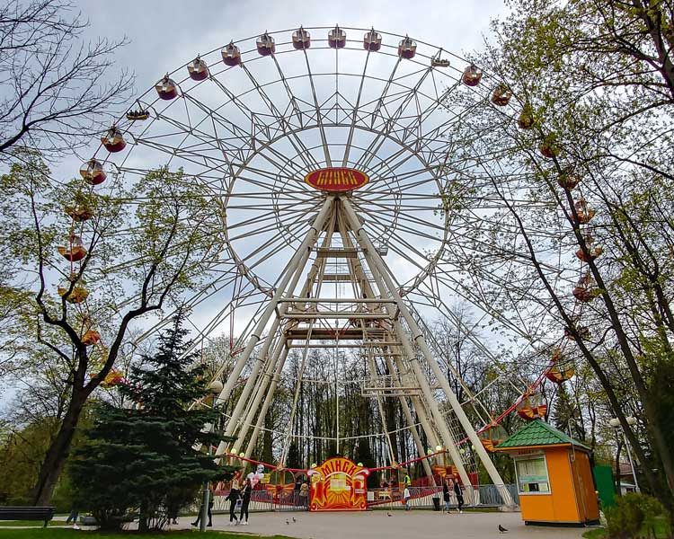 Observation wheel in a parc in Minsk in Belarus