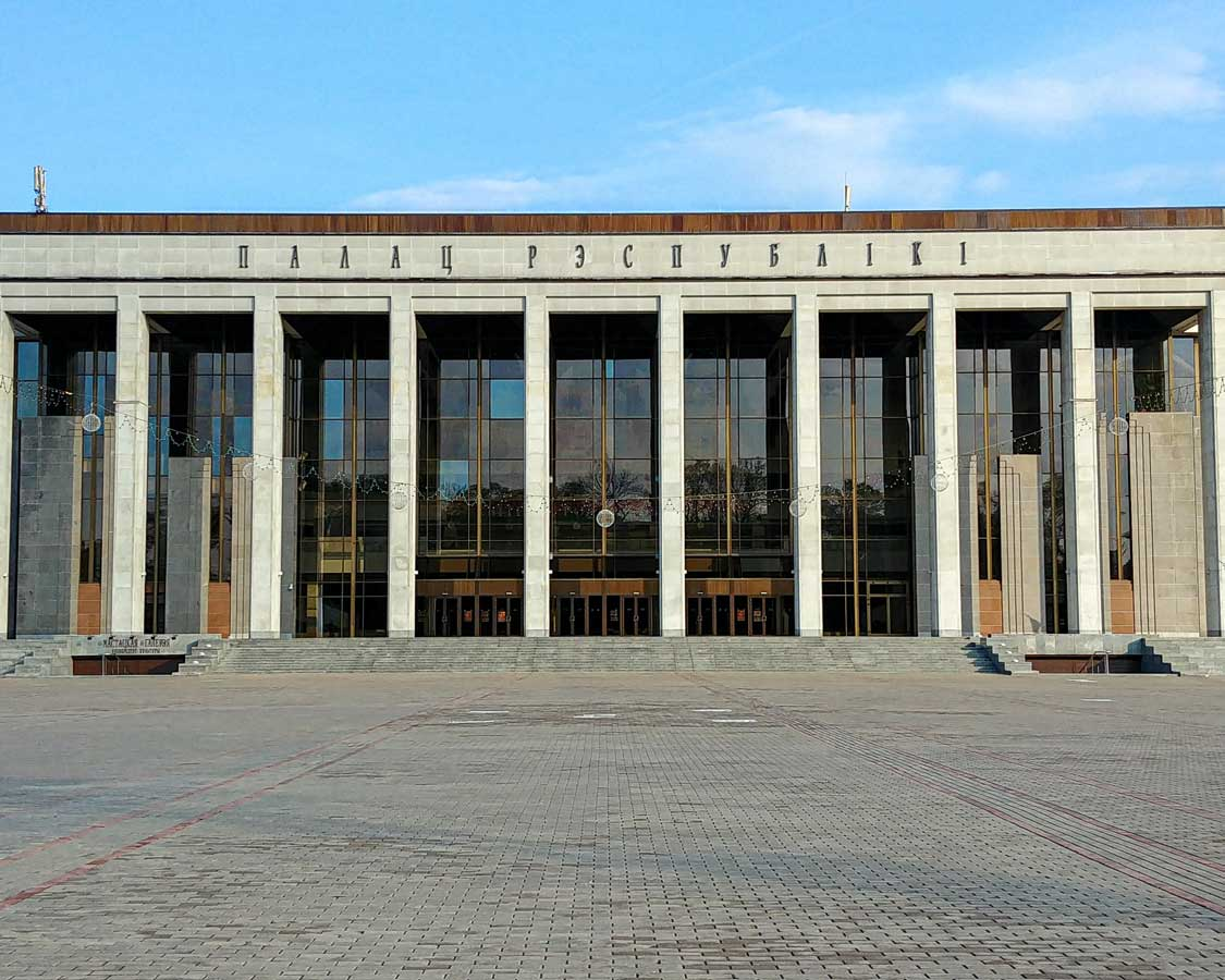 Soviet architecture in Minsk in Belarus