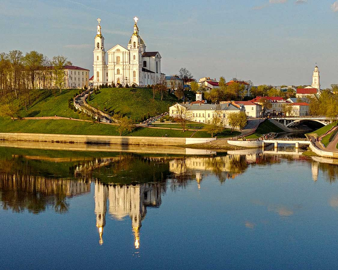 View on Belarusian city of Vitebsk across the river