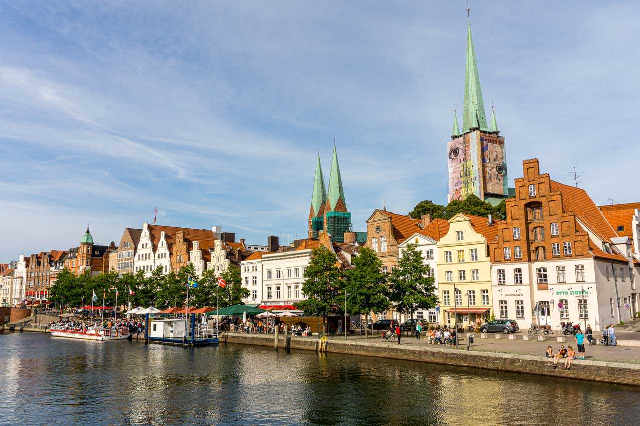 View from love bridge in Lubeck