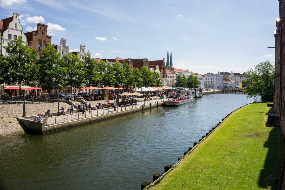 Trave river in Lubeck