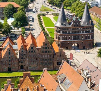View on Lubeck city from the top