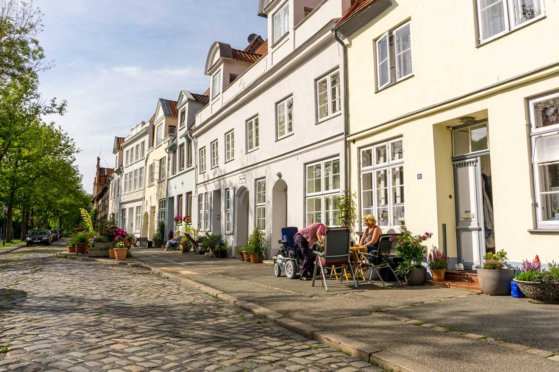 Old town architecture in Lubeck