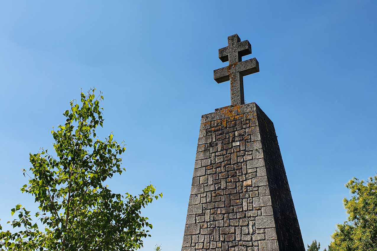 Stone cross in the Fontainebleau forest