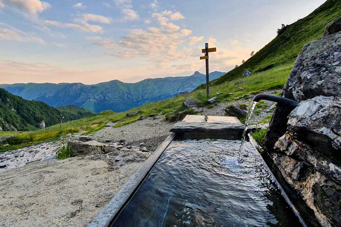 Water point in the Pyrenees