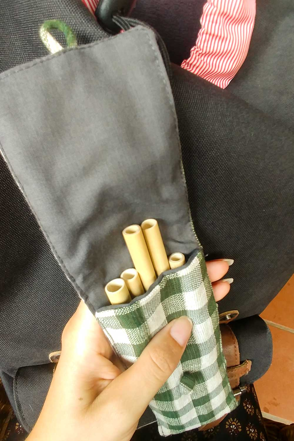 Sustainable bamboo straws for traveller