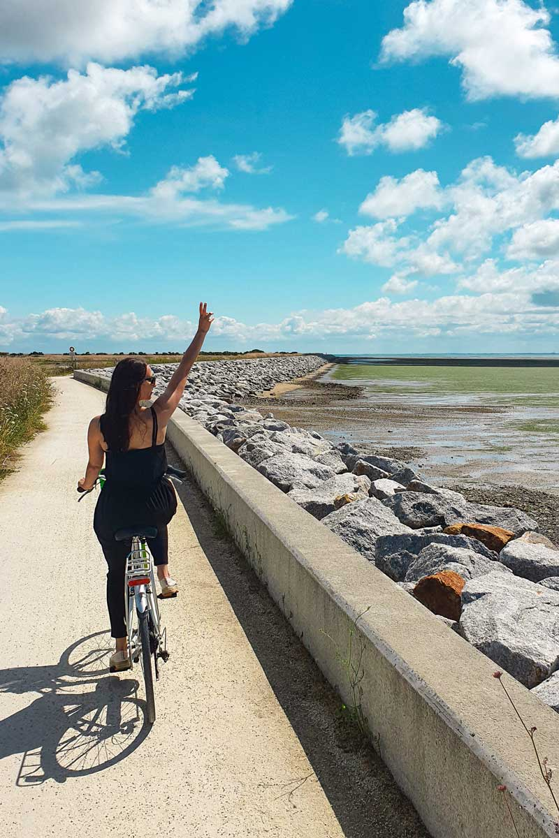 Travelling in a sustainable way on a bike