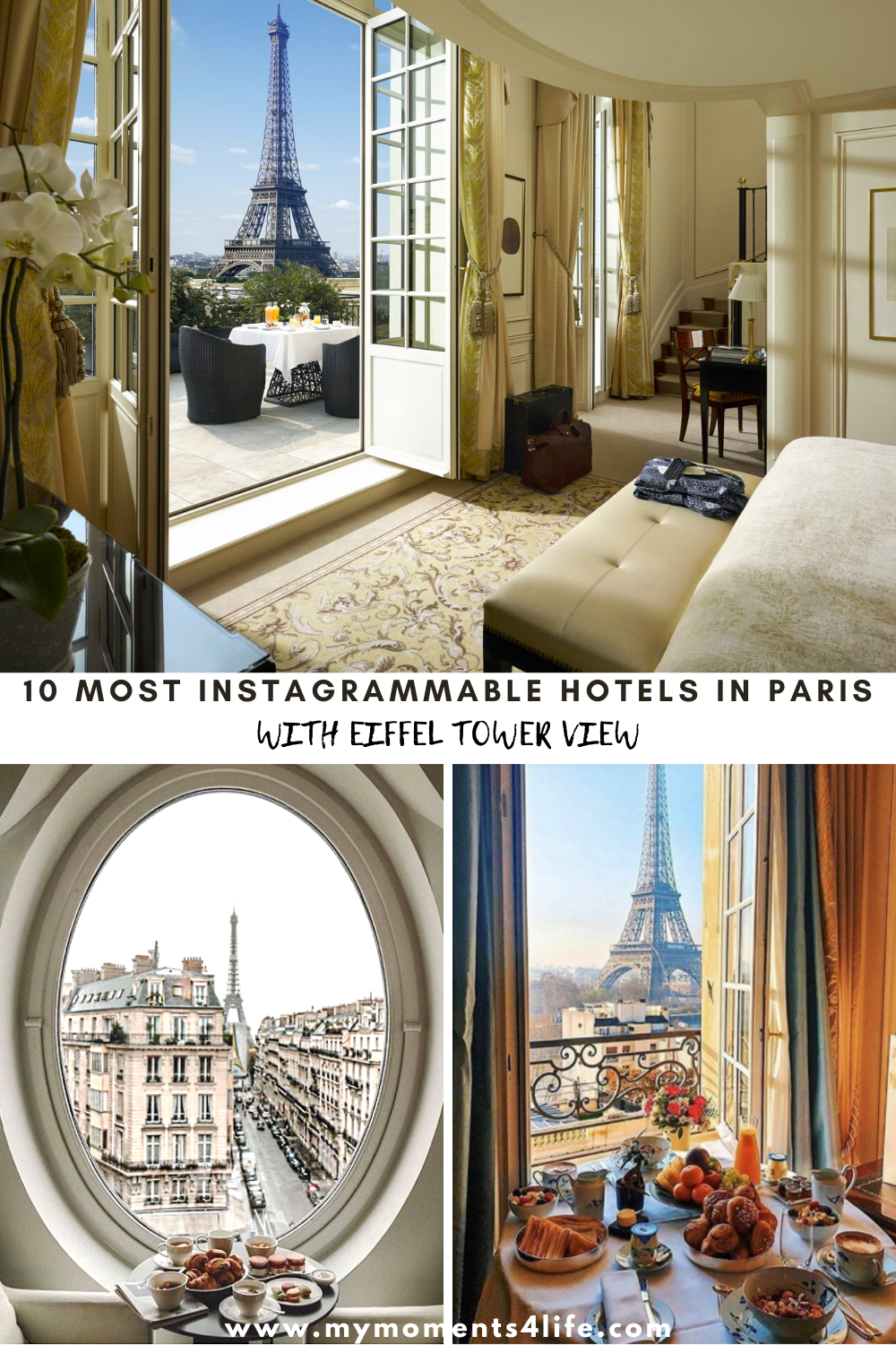 Instagrammable Hotels in Paris with Eiffel Tower view
